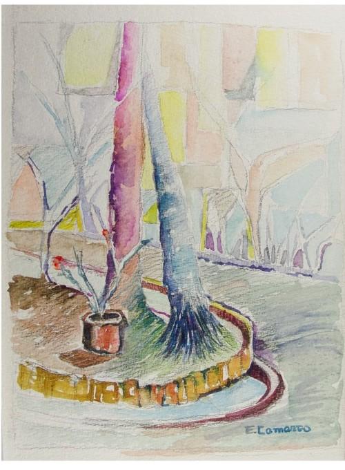 Pintura em aquarela buenos aires 1