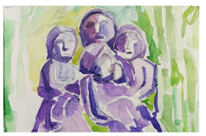 pintura em aquarela lasar 2
