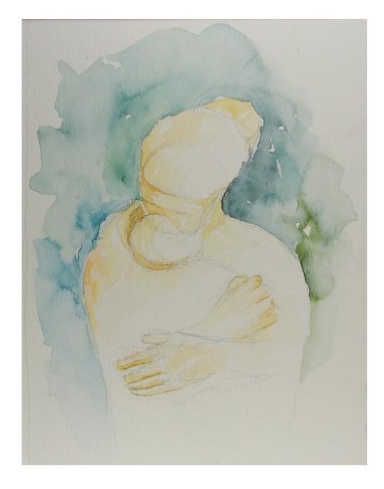 pintura em aquarela mae 2