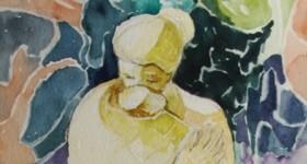 pintura em aquarela mae destaque