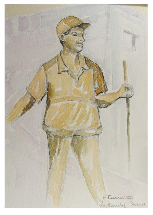 pintura em aquarela trabalhadores 1