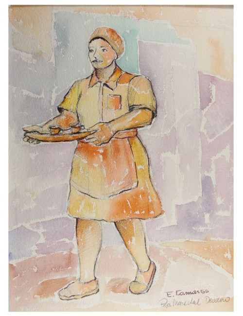 pintura em aquarela trabalhadores 2