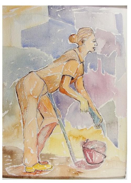 pintura em aquarela trabalhadores 3