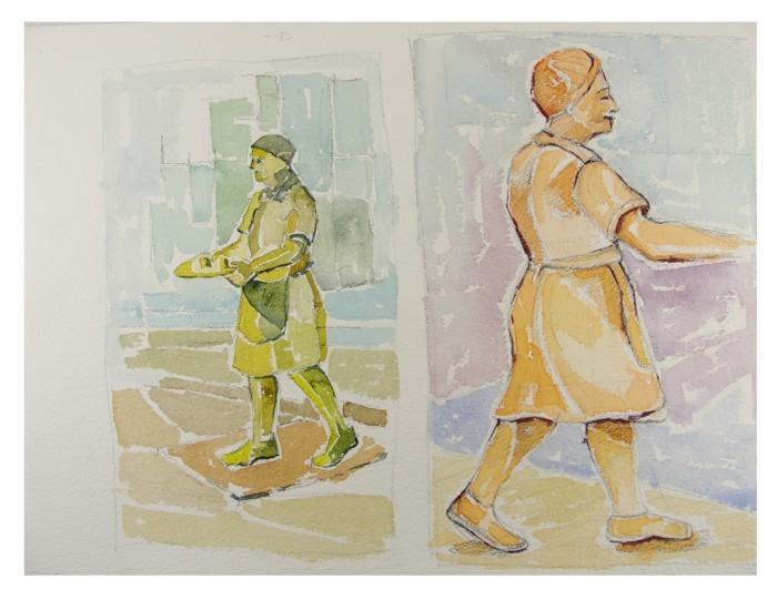 pintura em aquarela trabalhadores 4