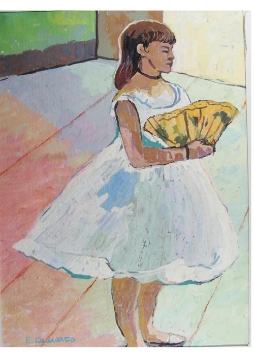 pintura em guache bailarina 1