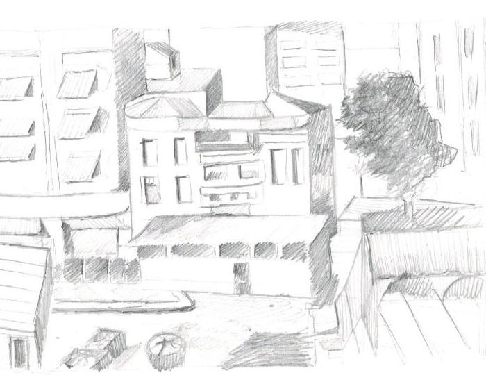 desenho a grafite santa cecilia