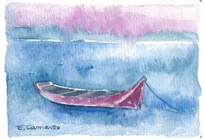 pintura aquarela barco 1
