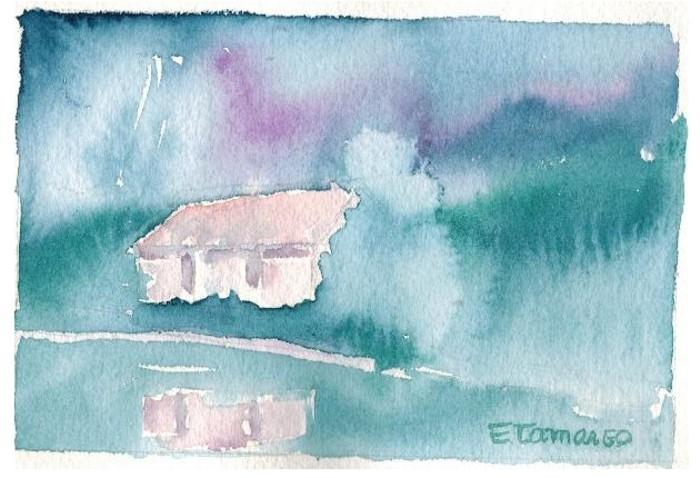 pintura aquarela casa 1