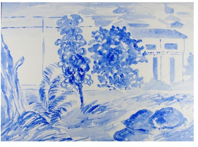 pintura em aquarela fig