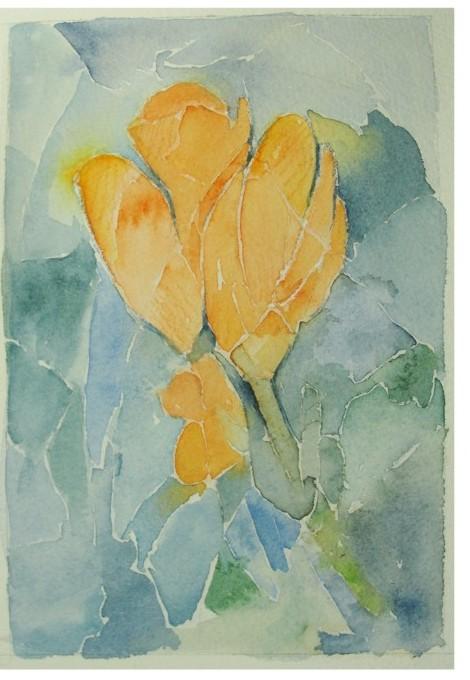pintura em aquarela flores 1