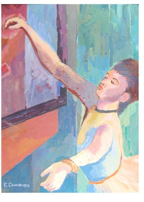 pintura em guache bailarina 2