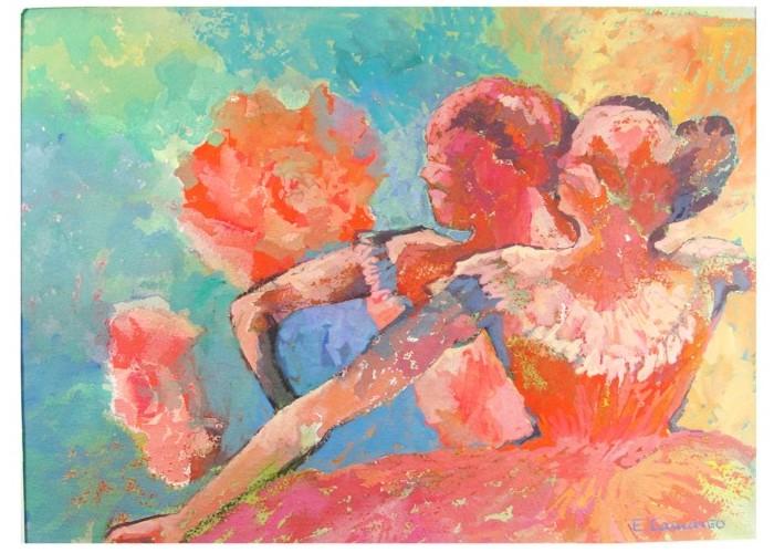 pintura em guache bailarina 3