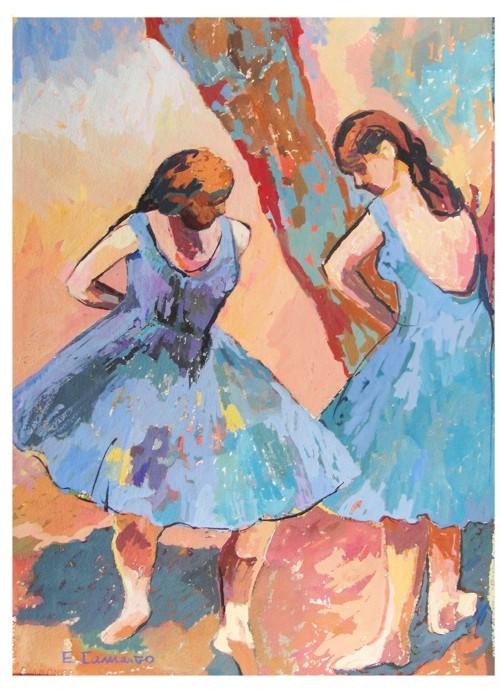 pintura em guache bailarina 4