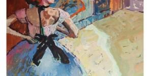 pintura em guache bailarina 5