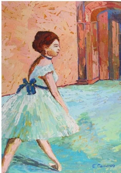 pintura em guache bailarina 8