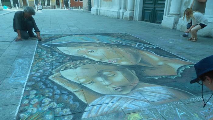 aquarela venezia na rua